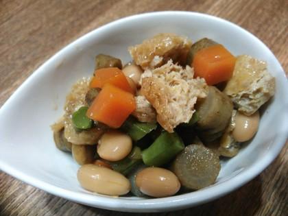 大豆と野菜の煮物
