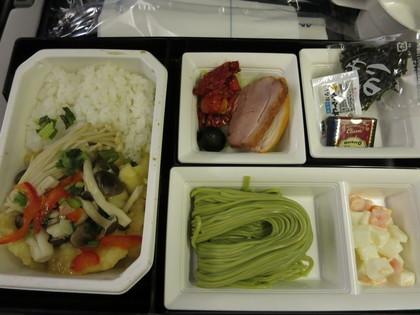 ANA帰りの機内食