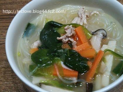春雨入りの中華スープ