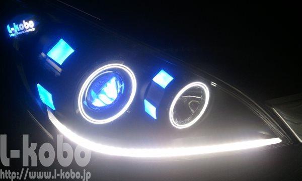 RGステップワゴンヘッドライト加工