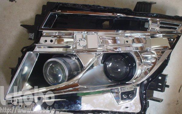 E52のヘッドライト加工