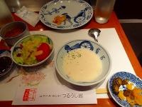 ステーキランドのスープ、サラダ