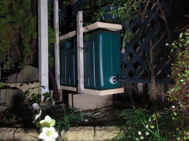 雨水タンクの固定