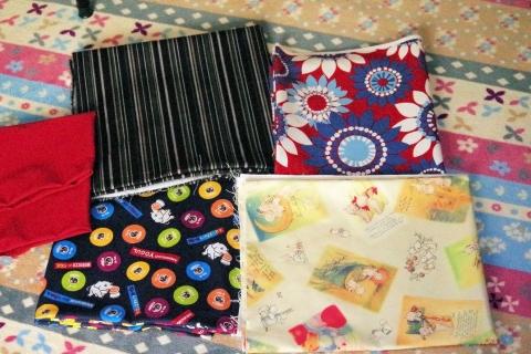 5種類の布