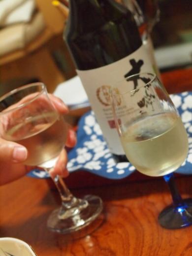 月桂冠大吟醸をワイングラスで