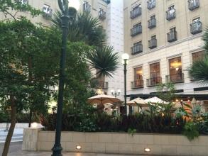 水戸プラザホテルの中庭