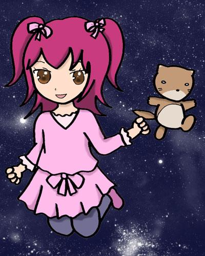 りん子とカワウソ宇宙へ