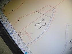 CADによるブラジャーパターンメーキング