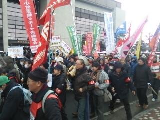 福島原発反対デモ左翼勢力