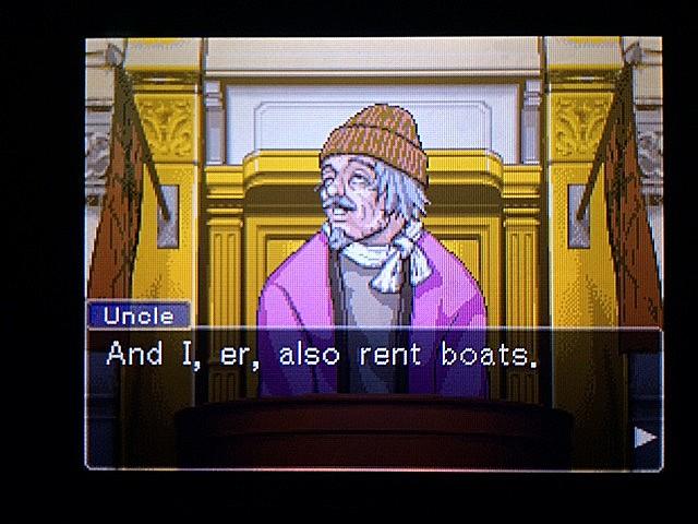 逆転裁判 北米版 ボート小屋の管理人入廷6