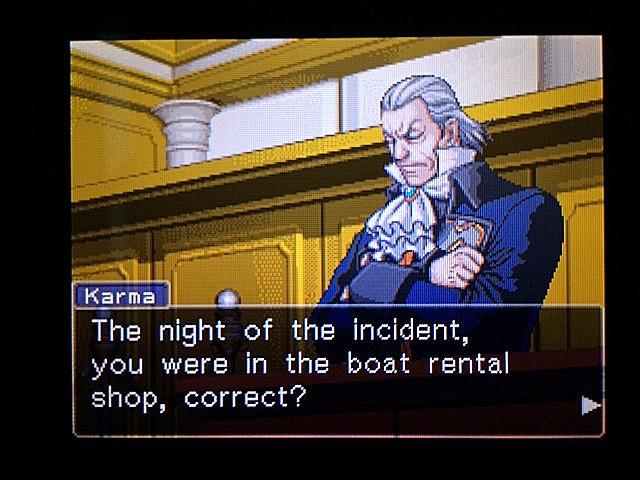 逆転裁判 北米版 ボート小屋の管理人入廷7