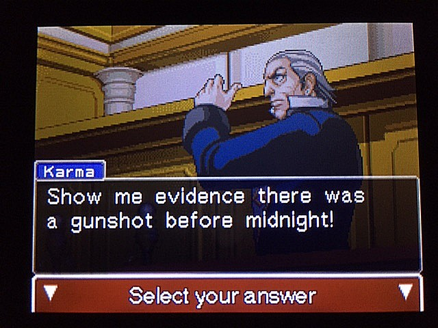 逆転裁判 北米版 イヴの銃声の証拠14