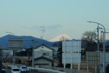 栃木からみた富士山