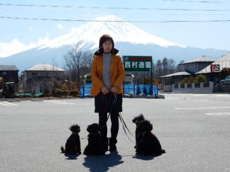 富士山と初ショット