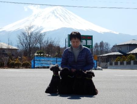 富士山と初ショットwithパパ