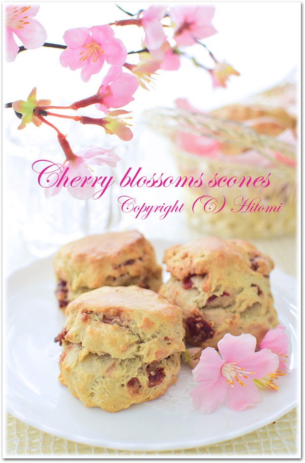 桜と苺のスコーン