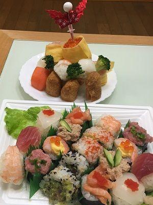 寿司で ツリーに挑戦