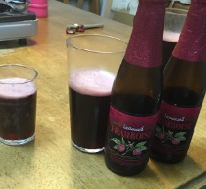 ベルギーの果実入りビール