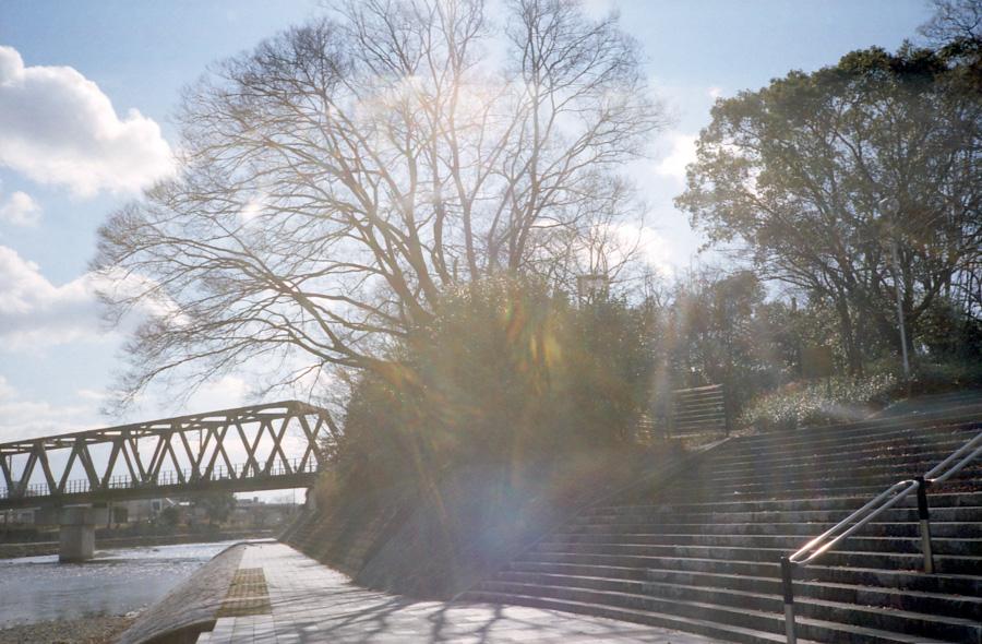鉄橋と溢れ出す光