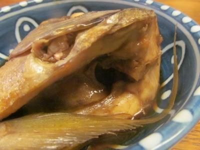 シマアジの兜煮アップ1