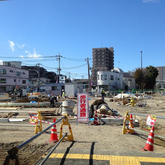 布田駅前工事②