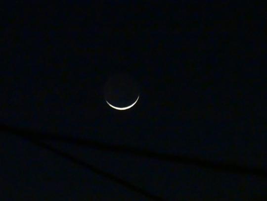 弓のような月