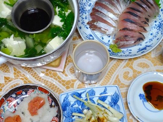 湯豆腐と島らっきょう