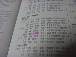 全日本学生音楽コンクール大阪大会歴代入賞者一覧より