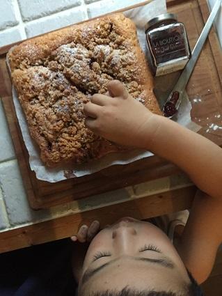 クランベリークランブルケーキ