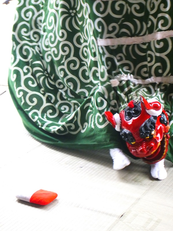 七夕祭り 獅子舞 小国町 玉遊び1