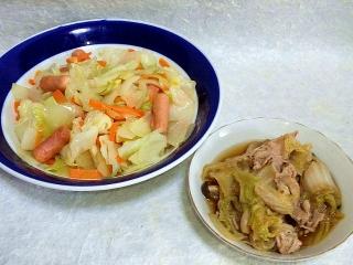 150609_3160キャベツの旨塩炒め・白菜と豚肉シメジの煮物VGA