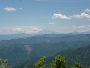 大岳山から富士山