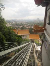 斜行エレベータからのペナンの街の眺めも悪くはない