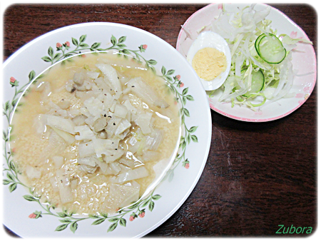 キャベツの芯スープ