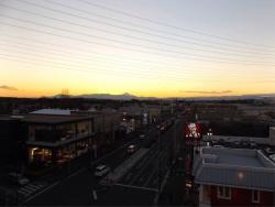 20150110夕焼けの富士山1
