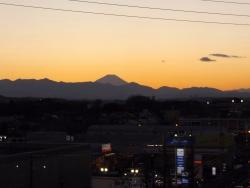 20150110夕焼けの富士山2