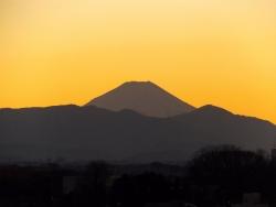 20150110夕焼けの富士山3