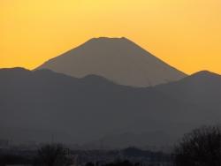 20150110夕焼けの富士山4