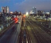 三鷹跨線橋夕暮れ2_20150227