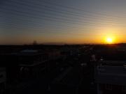 20150327夕陽と富士山1