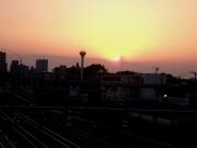 20150427三鷹跨線橋からの夕陽3