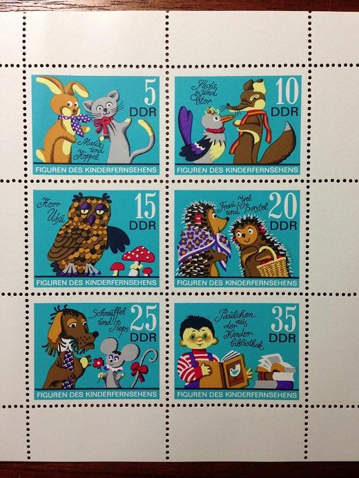 IMG_9092東ドイツの切手(DDR) 1972年子供向けTVキャラクター