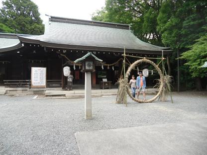 6 今年も参詣した水無瀬神宮の拝殿