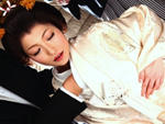 エロ備忘録 : 【無修正】白無垢姿の巨乳花嫁が初夜の最中に乱入した親戚一同に中出しされちゃう!青山雪菜