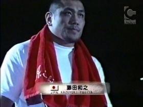 遂にPRIDEのリングに藤田登場