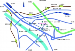 地図鶴の荘案内