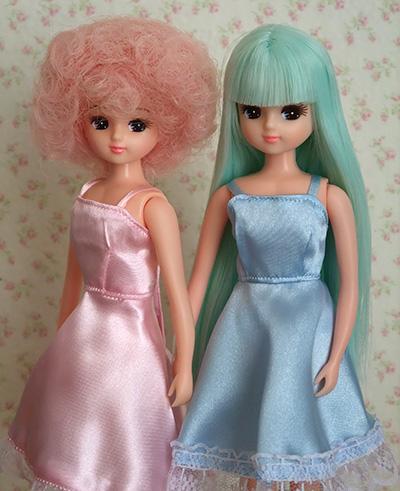 お人形教室出身ブルー&ピンク