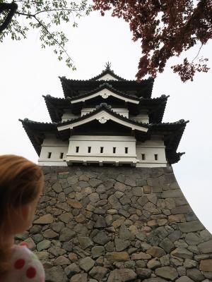 内濠からみる弘前城本丸