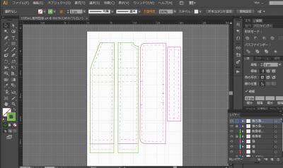 Illustratorで型紙づくり