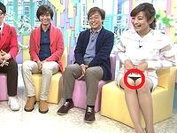 PON!で徳島アナがモロ見え白パンチラ放送事故wwwwwwww